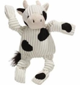 HuggleHounds HuggleHounds Dog Toy Plush Knotties Barnyard Cow Small