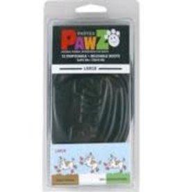 PAWZ DOG BOOTS LLC PAWZ WATRPRF BOOT LG 12PK BLK