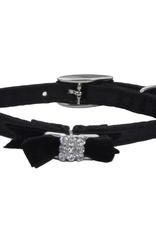 """Coastal Coastal Li'l Pals® Safety Kitten Collar with Bow, Black Silk, 3/8"""" x 08"""""""