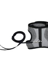 "Coastal Coastal Adjustable Cat Wrap Harness with Leash, GRY, 9""-14"""
