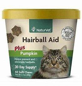 NaturVet NATURVET CAT HAIRBALL AID PUMPKIN CHEW 60CT