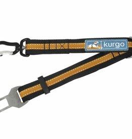 "Kurgo Kurgo Direct To Seat Belt Swivel Tether, 15-22"", Black/Orange"