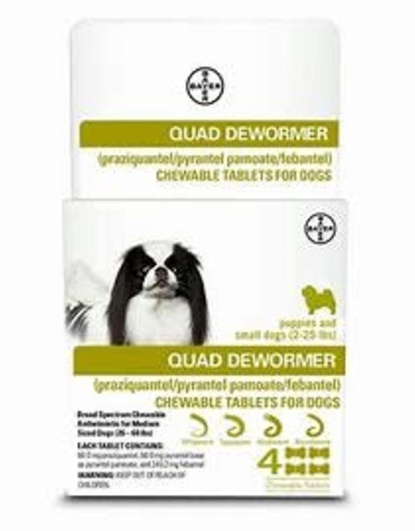 Bayer Bayer Quad Dewormer Tablets for Small Dogs 4ct