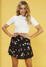 Mink Pink Night Garden Mini Skirt