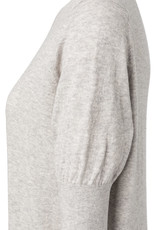 Yaya Light Grey Short Sleeve Sweater