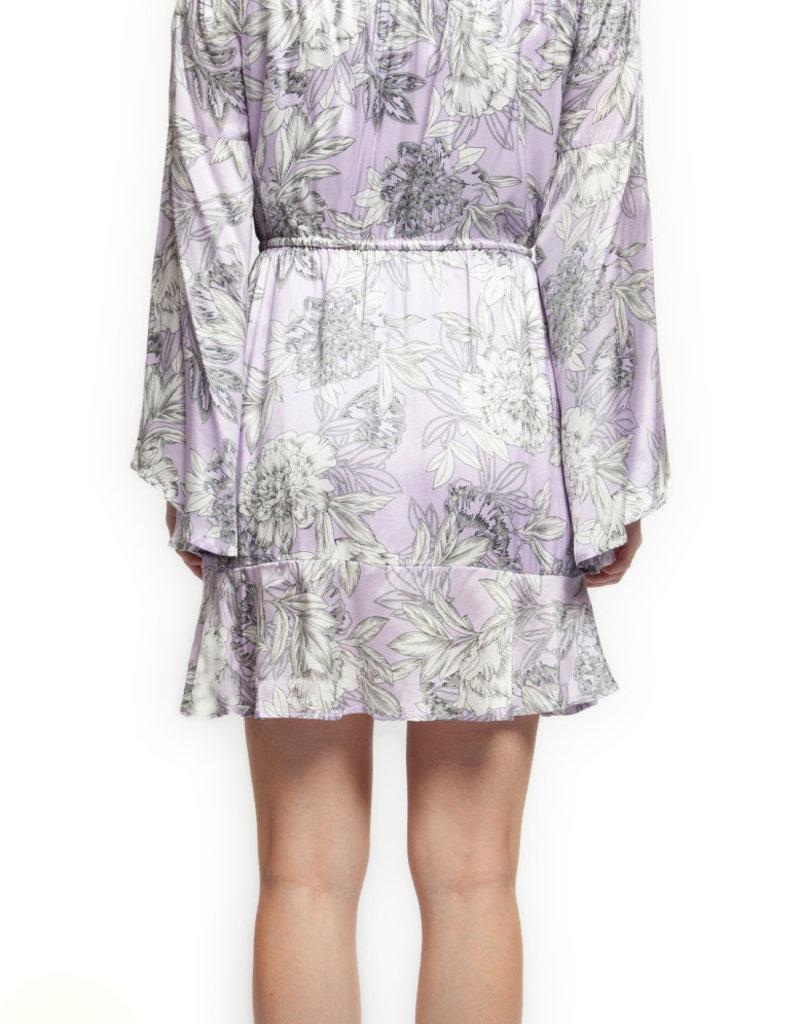 Black Tape Lavendar Off Shoulder Dress