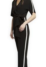 Black Tape Black Jumpsuit with Athletic Stripe