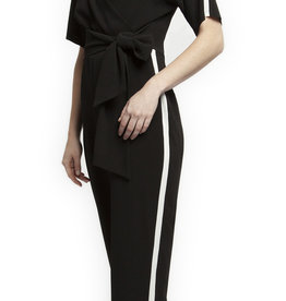 Black Tape Black Jumpsuit with Athletic Stripe