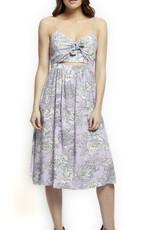 Black Tape Lavendar Tie Front Dress