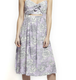 Black Tape Lavendar Tie Front Dress