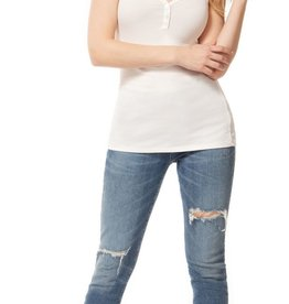 Dex Button Tank White