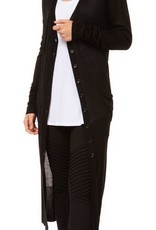 Black Tape Black Long Cardigan