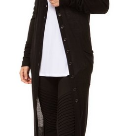 Black Tape Black Long Cardigan