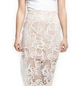 Black Tape Lace Skirt