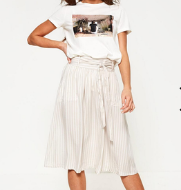 Only Manhatten Stripe Skirt Beige