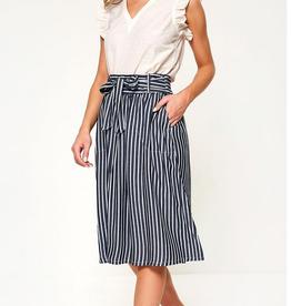 Only Manhatten Stripe Skirt Navy