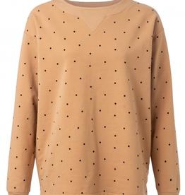 Yaya Sand Polka Dot Sweatshirt