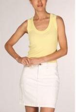 Yaya Off White Denim Skirt