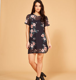 Mink Pink Flower Mesh Dress