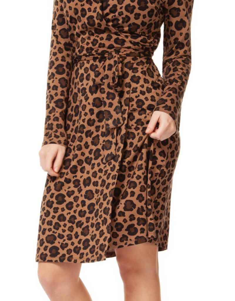 Dex Leopard Wrap Dress