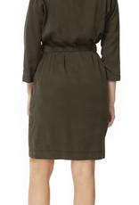 Dex Button Down Shirt Dress Green