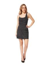 Dex Silver Drape Mini Dress