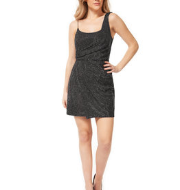 Dex Silver Drape Mini Dress