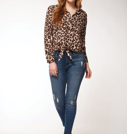 Dex Cheetah Button Down Shirt
