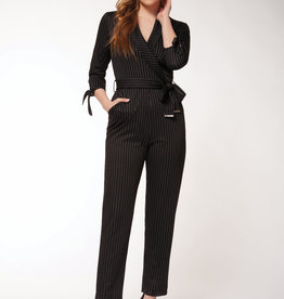 Dex Black Pinstripe Jumpsuit