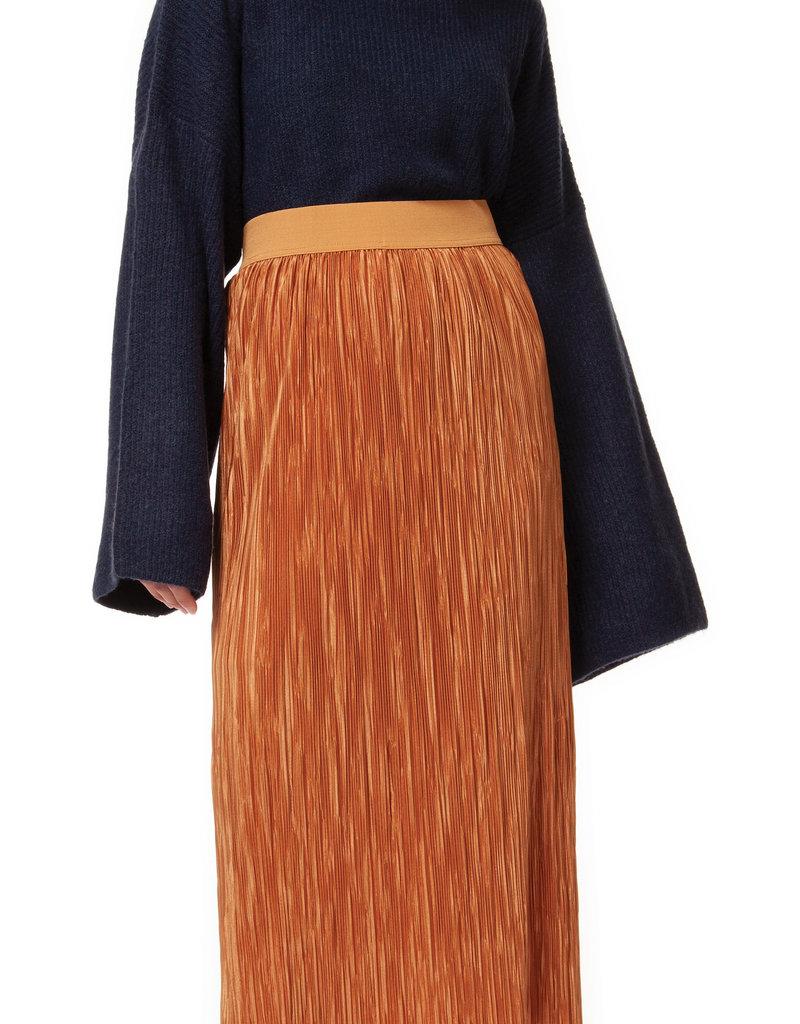 Black Tape Gold Pleated Skirt