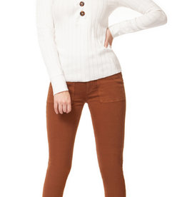 Dex V-Neck Sweater w/ Button Details