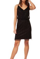 Black Tape Black Beaded Dress