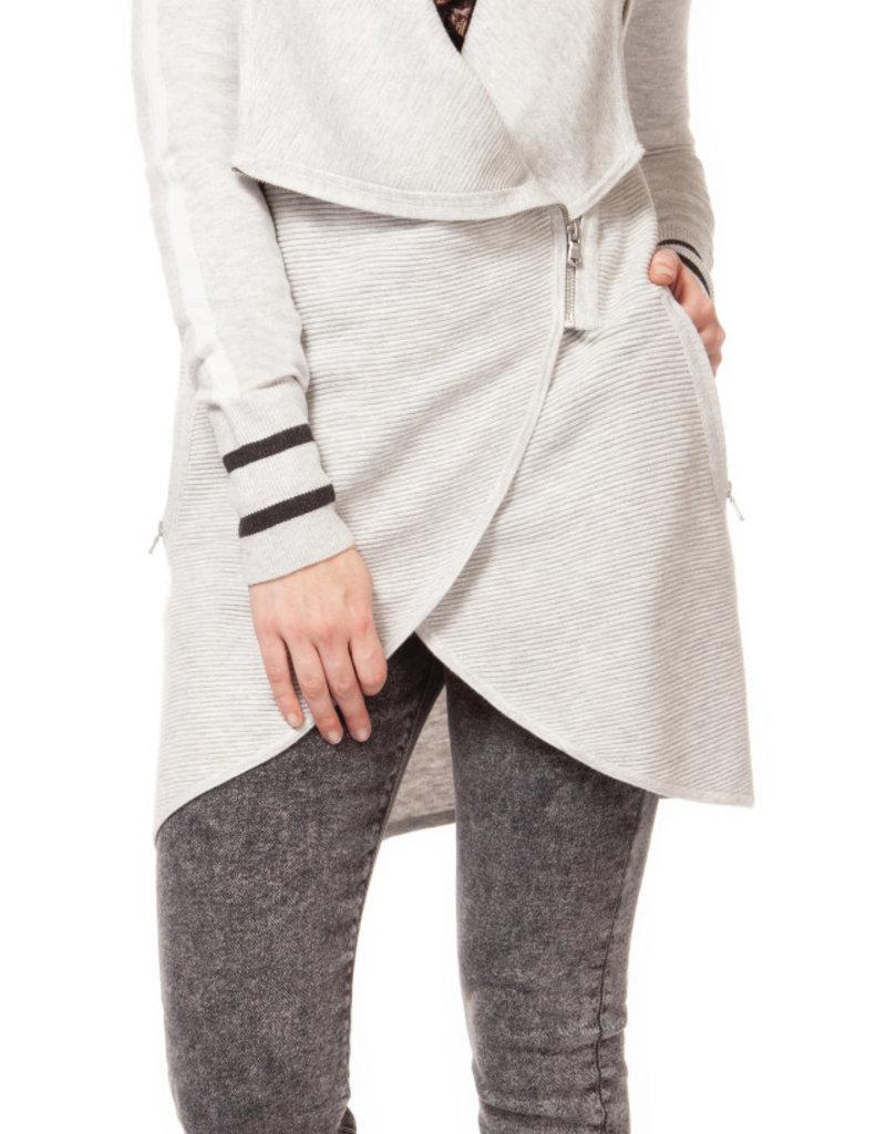 Dex Grey Zip up Cardigan