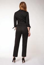 Dex Black Pinstripe Jumpsuit