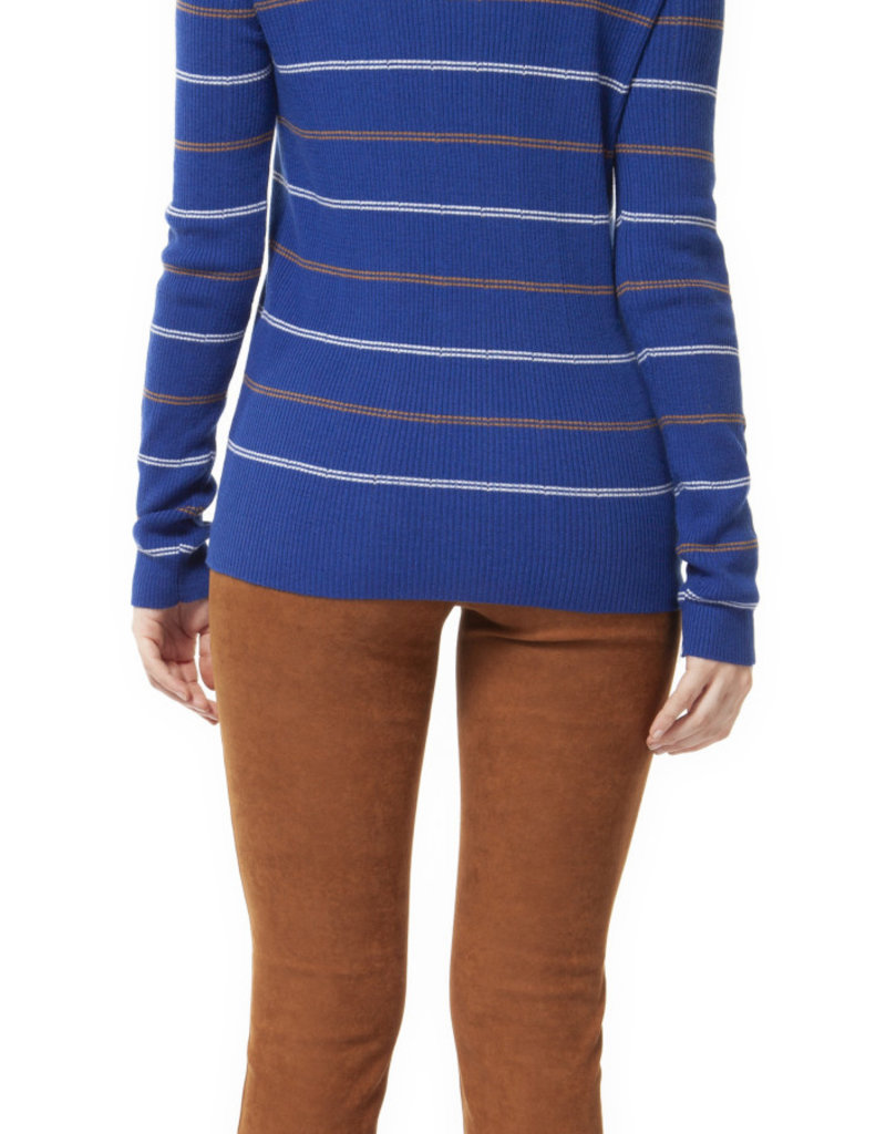 Dex Electric Blue Stripe Sweater