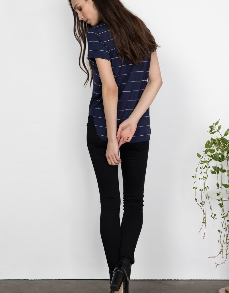 Gentle Fawn Alabama Navy Stripe Tee