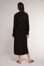 Dex Black Long Cardigan