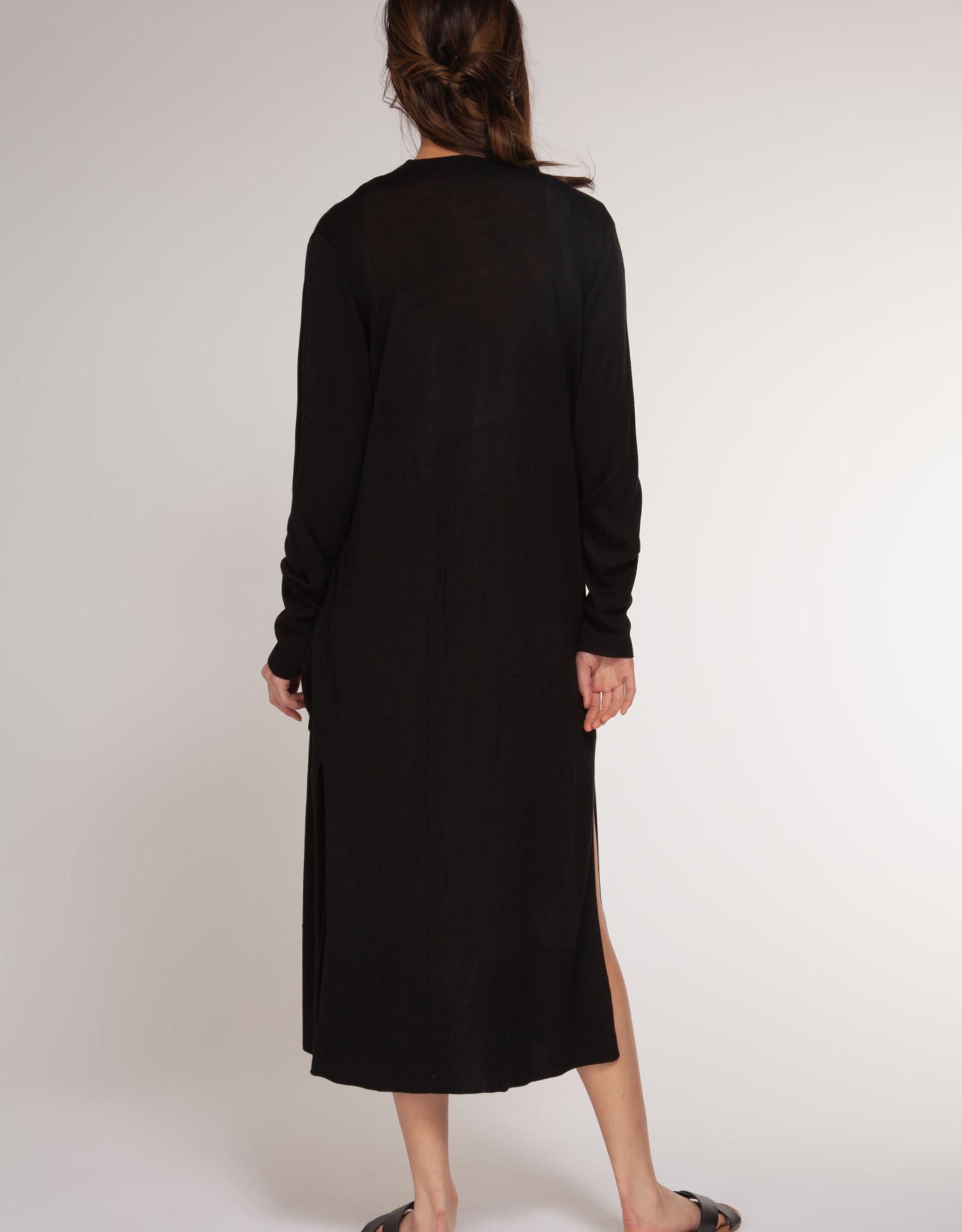 Dex Black Long Cardigan