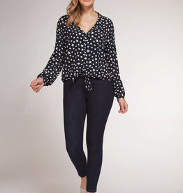 Dex Navy Star Blouse