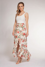 Dex Hawaiian Ruffle Midi Skirt