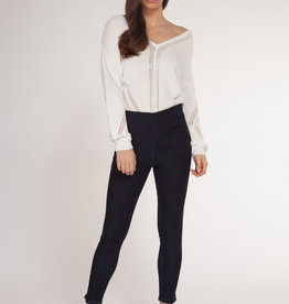 Dex White Pointelle Sweater