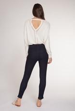 Dex White Pointelle Sweater
