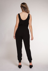 Dex Black Ribbed Jumpsuit