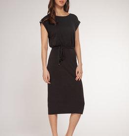 Dex Black Cap Sleeve Dress