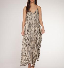 Dex Taupe Tie Dye Snake Dress