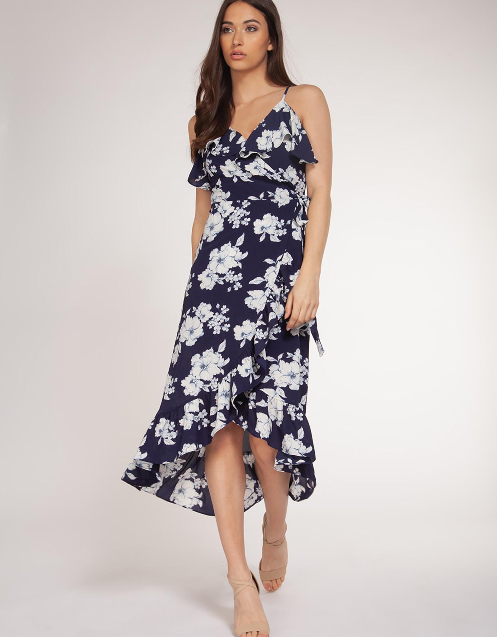 Dex Navy Floral Dress
