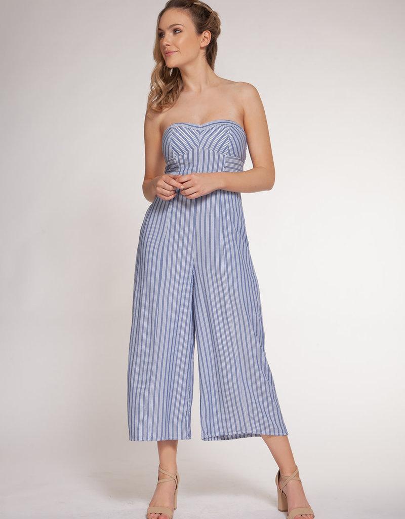 Dex Chambray Stripe Jumpsuit