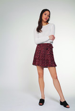 Dex Red Ditsy Floral Skirt