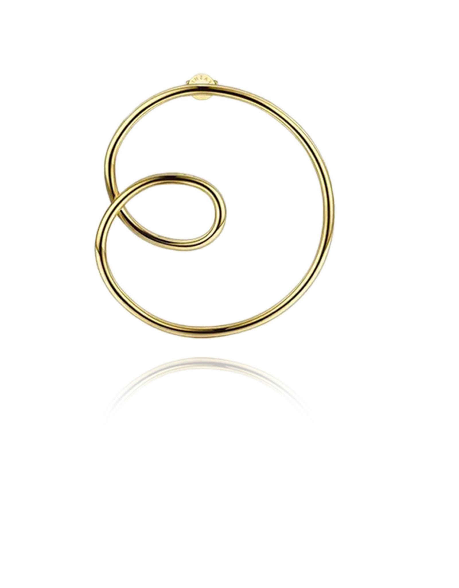 Lakoo Designs Gold Big Loop Left