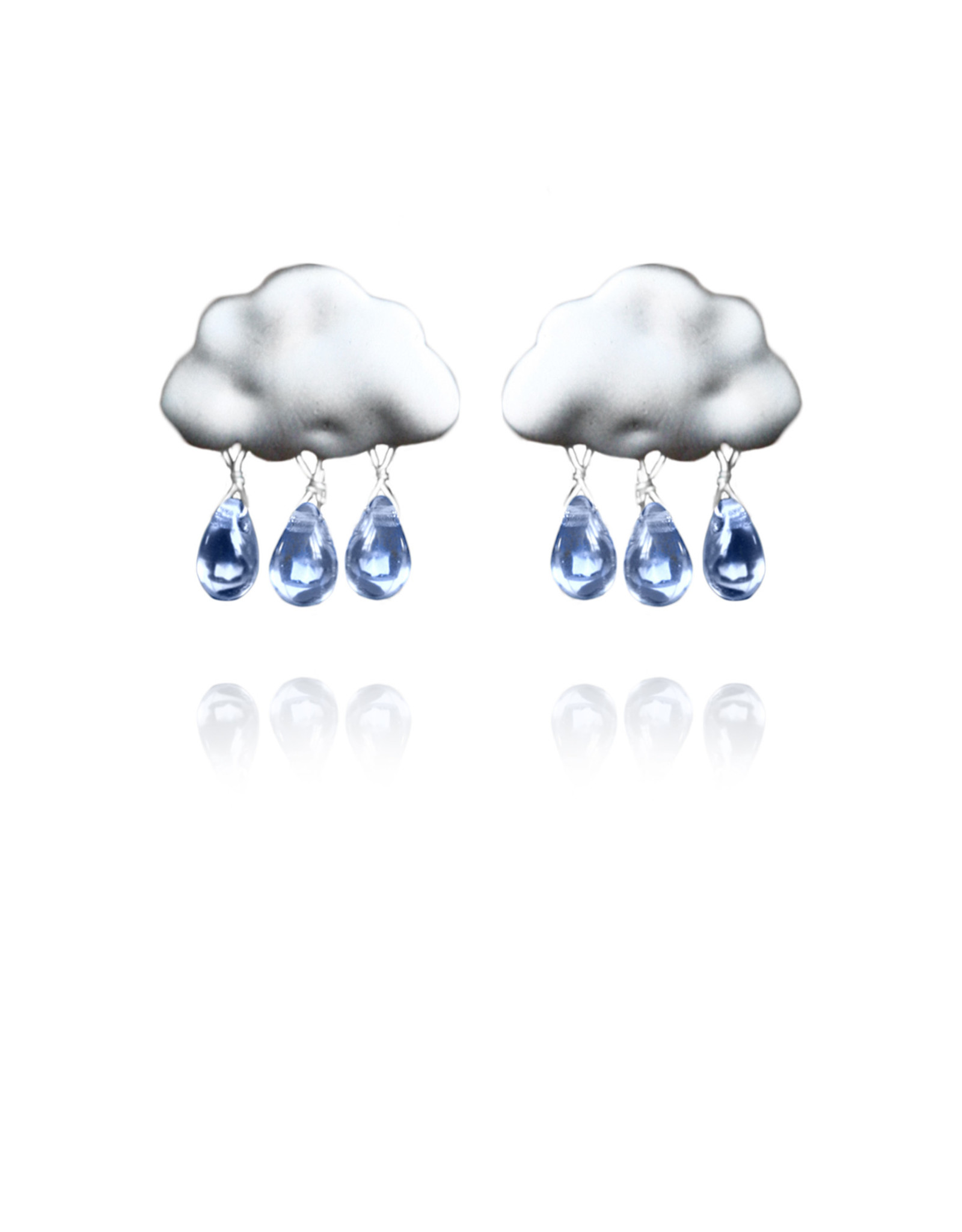 Lakoo Designs Silver Cloud 3 Drop Blue